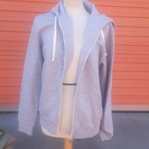 Divided Grey Zip Front hoody sweatshirt Jacket M
